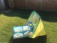Garden Play tent and tunnel set