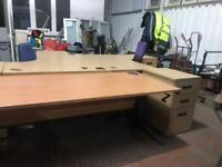 1800mm x 800mm Straight Beech Desk - Height Adjustable