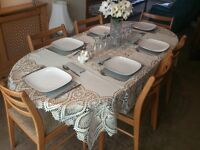 Dining Table four to six Seater extendable set with coffee table