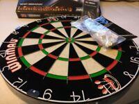 Dart Board with darts (unused)