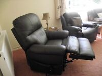 Electric leather Rise & Recline Armchair - As New