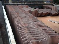 Double roman roof tiles x120. Used