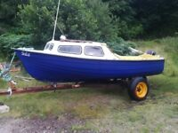 17ft cuddy boat and engine for sale
