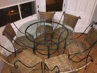 Dining room table / patio table 6 chairs £150 ONO