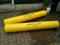 Two inflatable boat rollers
