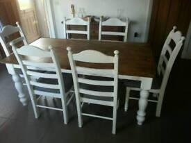 Gorgeous Newly Refurbished 6ft Table Set