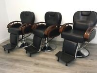 Four 1-year old Barber Chairs
