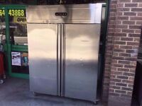 DOUBLE DOOR FRIDGE USED FOR COMMERCIAL AND CATERING USE RESTAURANTS CAFES BARS PUBS KITCHENRY FOOD