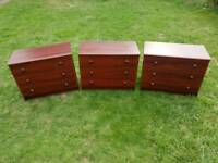 Lovely 3 x Chests of drawers. In great condition