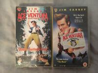 Two VHS Films (Ace ventura pet detective/ Ace ventura when nature calls) for Sale
