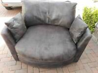 Brown corner suit with cuddle chair