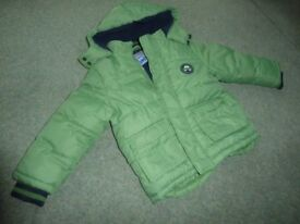 Boys Green Coat Age 3-4 years VGC