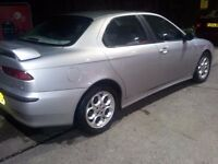 ALFA ROMEO 156 1.8 SOUGHT AFTER CLASSIC WITH CLOVERLEAF ALLOYS +ALFA SUPPLE LEATHER ONLY 72000 MILES