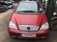 2003 Mercedes A160 Avantgarde Auto 5dr Petrol Red BREAKING FOR SPARES