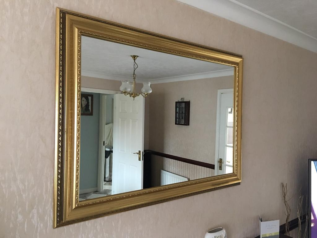 Large Gilt framed mirror   in Enderby, Leicestershire   Gumtree