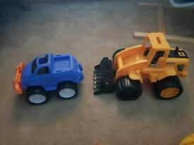 Car & digger