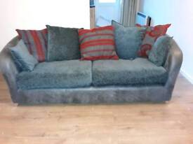 leather effect settee