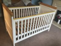 Humphrey's Corner Cot / Toddler Bed Fixed Sides - No Mattress H38in 97cmW31in/79cmL57.5in/146cm