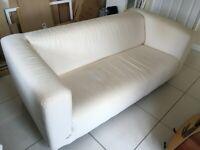 Ikea Klippan White Sofa