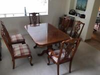 American cherrywood dining table & chairs