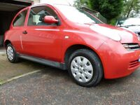 nissan micra xs 1.2 2004 on a ( 54 ) Plate