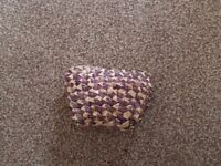 Small purple crafted money purse