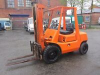 Classic Toyota 2.5 Ton Diesel Forklift Truck With Side shift 3 Stage Mast NO VAT