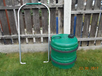 aqua roll style water porter & handle excellent clean used condition