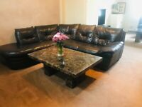 Dfs Beautiful Italian leather corner sofa
