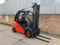 Linde H30D forklift, clear view mast with sideshift