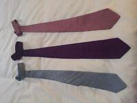 Three Salvatore Ferragamo ties - Amazing colours and styles £150- ono