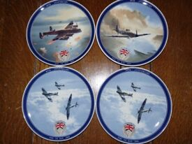 4 World War 2 Wedgewood aircraft commerative plates.