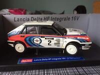Lancia delta 1:18 scale die-cast model