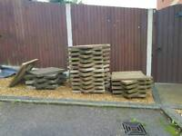 """38 x Concrete Slabs, 31 x Plain, 6 x 2"""" thick, 1 x Riven (All 600 x 600) £1 each Buyer Collects"""