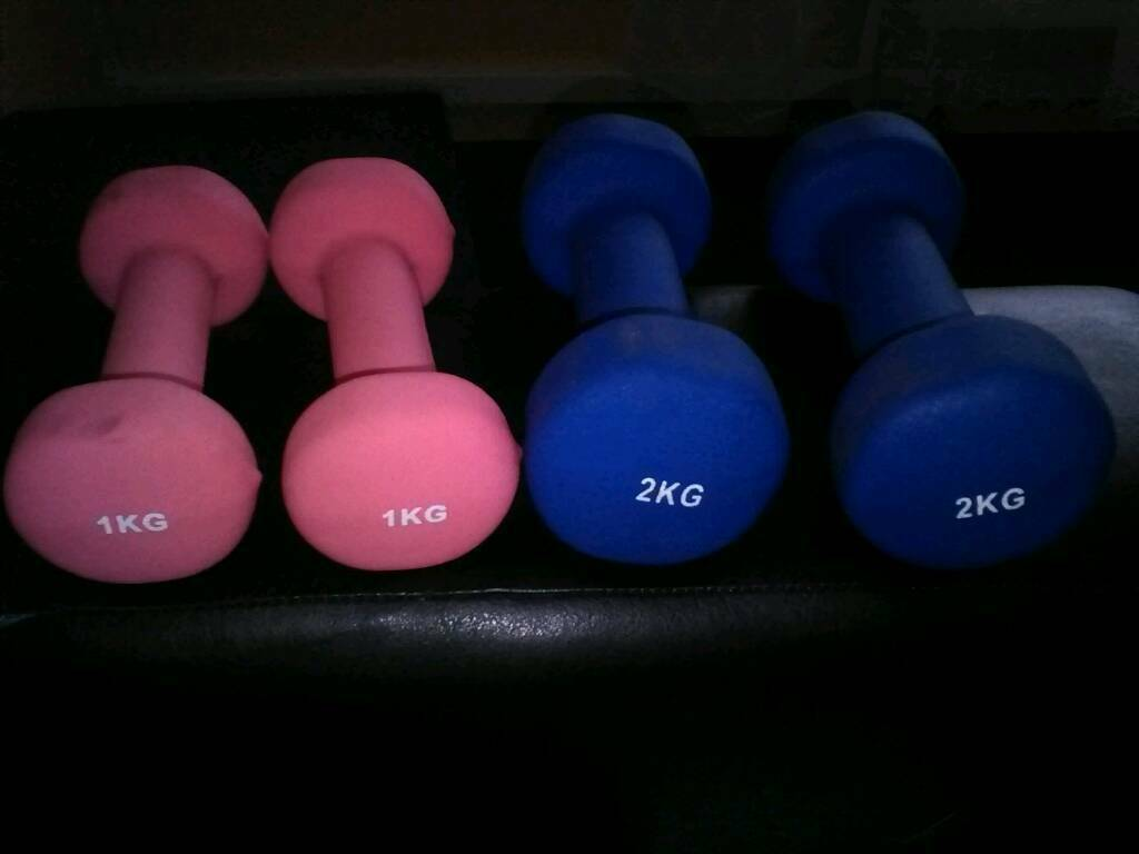 Pair Of 1 & 2 KG Dumbbells