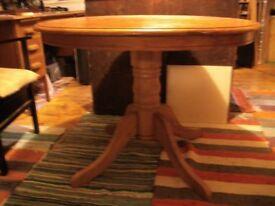 Round Hardwood Table