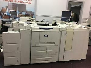 Xerox 4110 EPS Enterprise Printing System High Volume black and white Production Printer with Finisher 110PPM