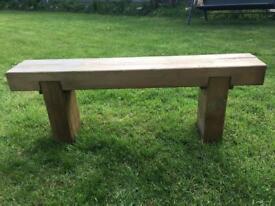 Single garden bench