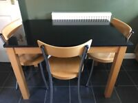 Kitchen Dining Table & 3 chairs