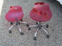 TWO ACRYLIC CHAIRS