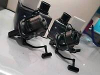 Carp fishing set up rods and reels