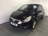 Vauxhall Corsa SXI 3 Door 1.2 Petrol Black 2009 model LONG MOT CLEAN MODEL PRIVATE PLATE