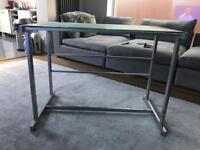 Metal and glass desk