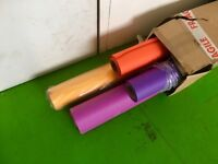 Brand new and used COLORAMA - 4 colours - 2.72 x 11m - £25 each