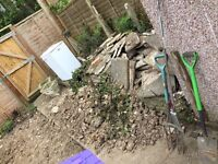 Free rubble and old patio slabs