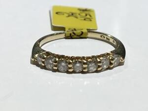 #1519 14K YELLOW GOLD LADIES DIAMOND WEDDING BAND *SIZE 6* JUST BACK FROM APPRAISAL AT $2150.00 SELLING FOR $725.00!
