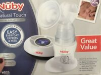 Nuby electric breast pump and lansinoh extras