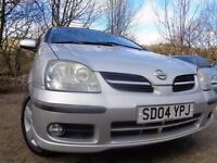 04 NISSAN ALMERA TINO 1.8,MOT NOV 016,PART HISTORY,2KEYS,3 OWNER NEW,LOW MILEAGE,TOTALLY UNMARKED
