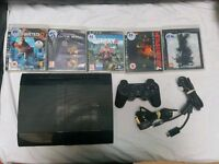 Super slim PlayStation 3 bundle 5 games: Uncharted 2 Metal gear solid 4 Farcry 4 Saints row 4 DMC