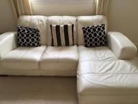 QUICK SALE DFS winter white / cream corner sofa / couch